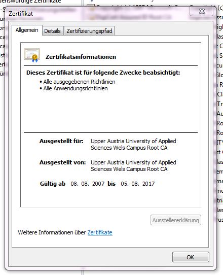 Outlook 2010 Internetsicherheitswarnung: Der Zielprinzipalname ist ...