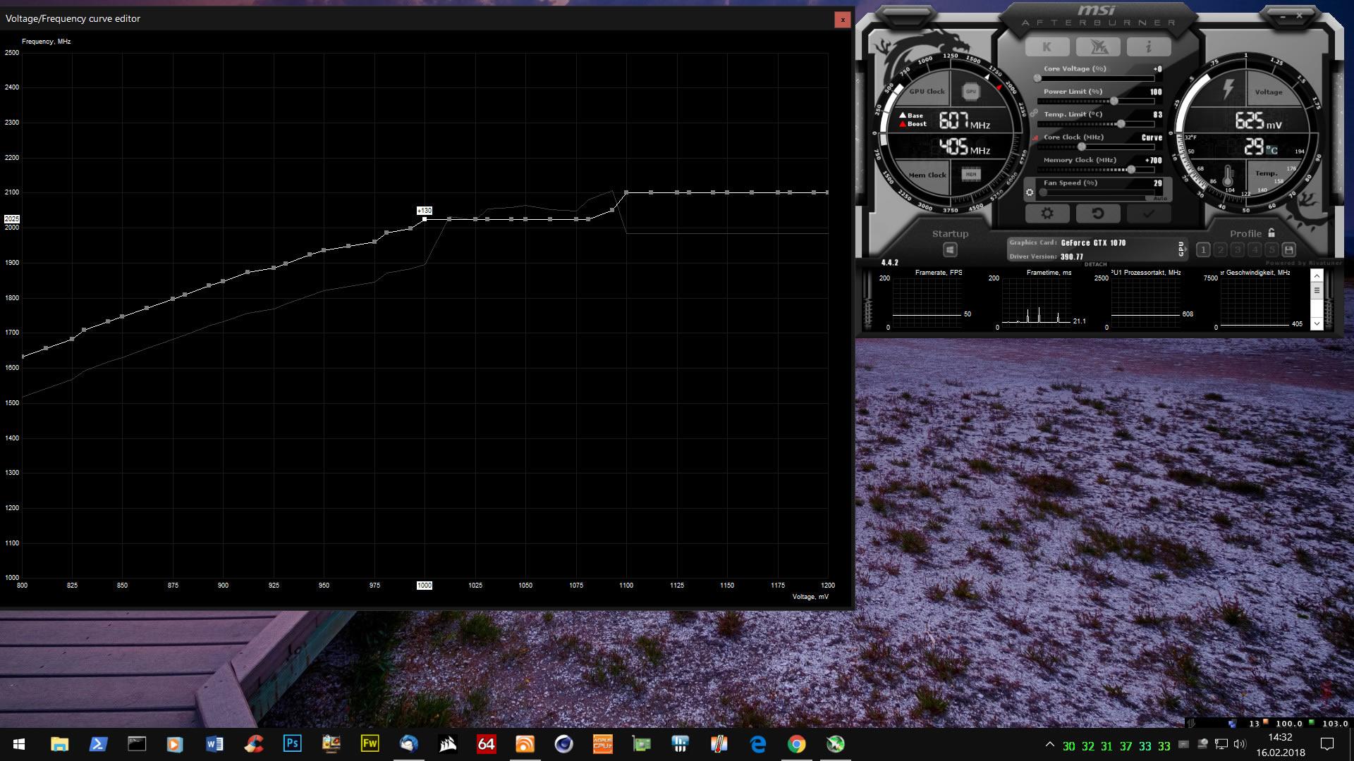 Klicke auf die Grafik für eine größere Ansicht  Name:Undervolting Profil mit 2025 MHz@1,0 Volt.jpg Hits:24 Größe:374,3 KB ID:667077