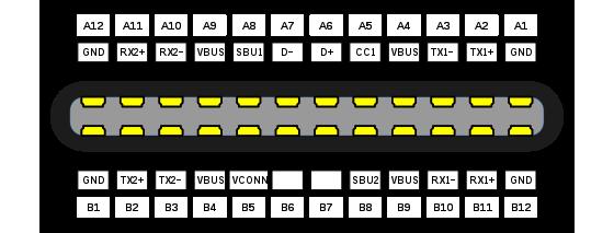 Klicke auf die Grafik für eine größere Ansicht  Name:Usb-type-c-plug-pinout.svg.png Hits:529 Größe:23,1 KB ID:634430