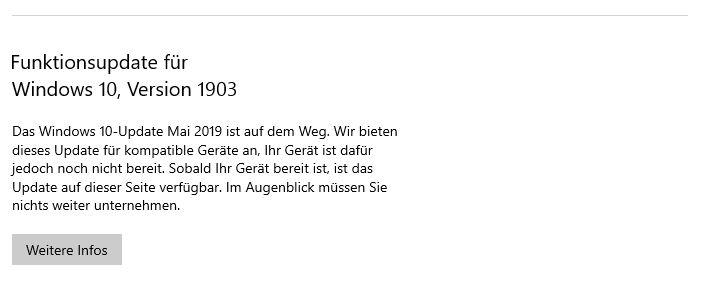 Windows 10 Update 1903 Nicht Moglich Xbox Beta App Daher Nicht Nutzbar Computerbase Forum
