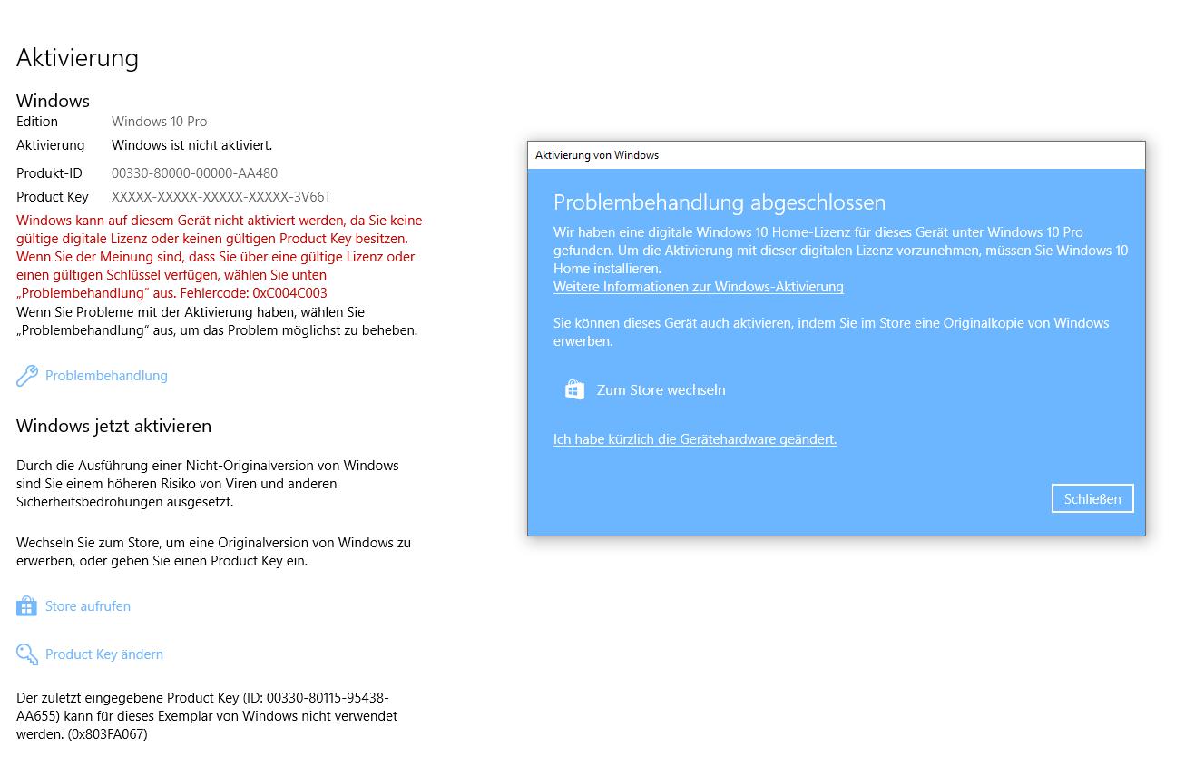 Windows ist nicht aktiviert