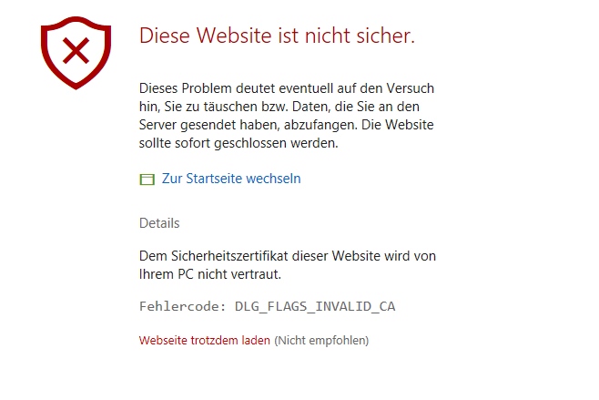 Windows 10: Edge Browser - Zertifikat Fehler mit Google.de ...